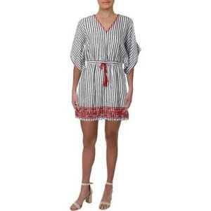 Ralph Lauren Linen Embroidered Casual Shift Dress